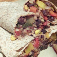 Black Bean Veggie & Rice Burritos