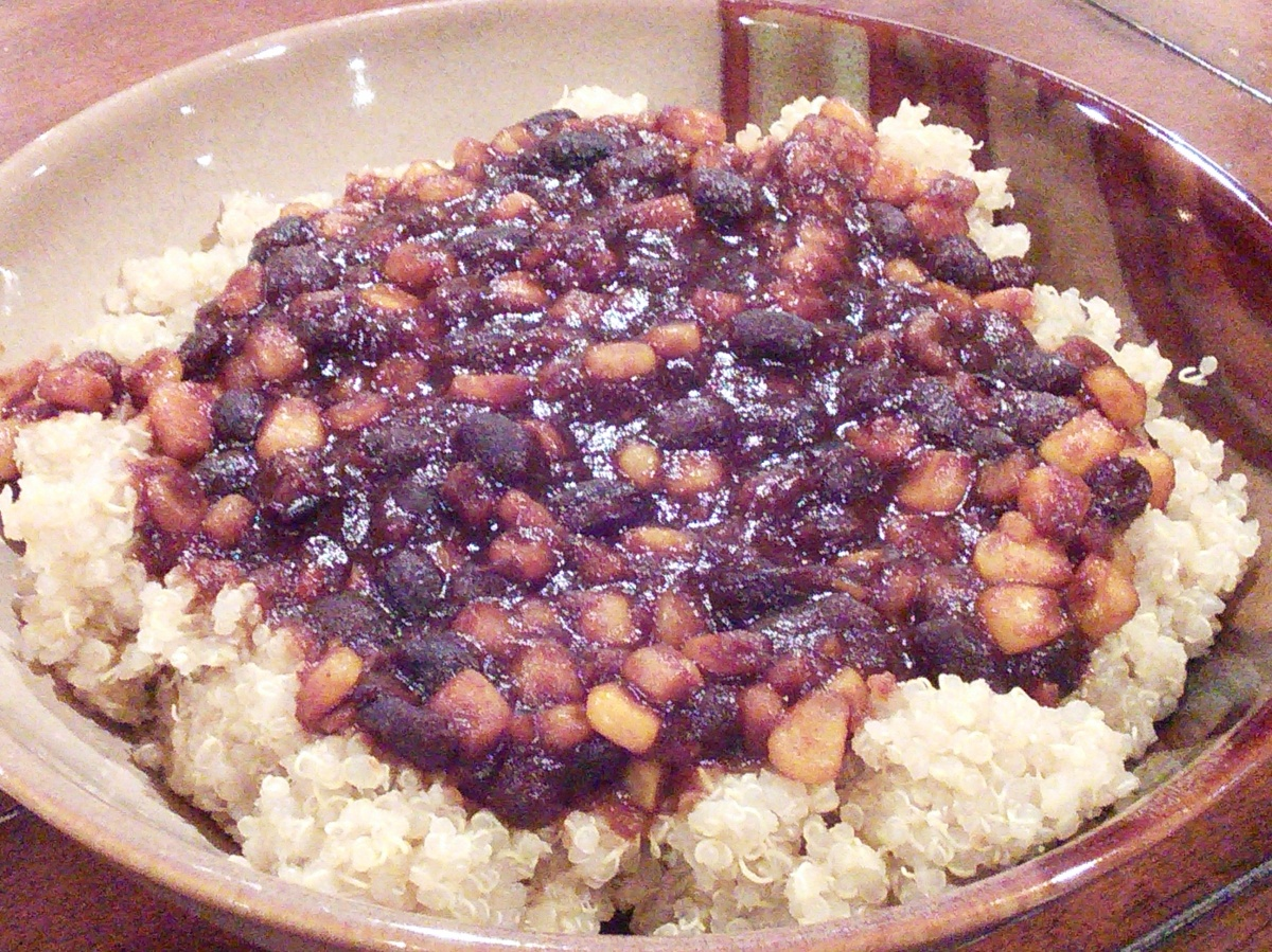 BBQ Black Beans & Corn over Quinoa