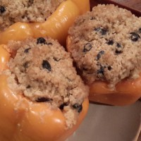 Slow Cooker Bean & Quinoa Stuffed Peppers