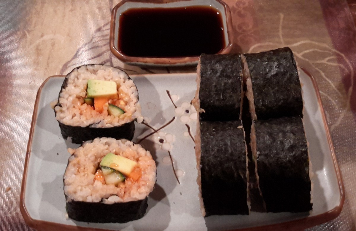Spicy California Maki Sushi Rolls