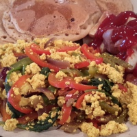 Tofu Scramble with Roasted Potatoes