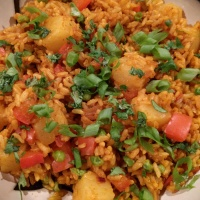 Thai Pineapple Curry Fried Rice