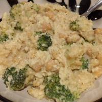 """Cheesy"" Cauliflower and Broccoli Casserole"