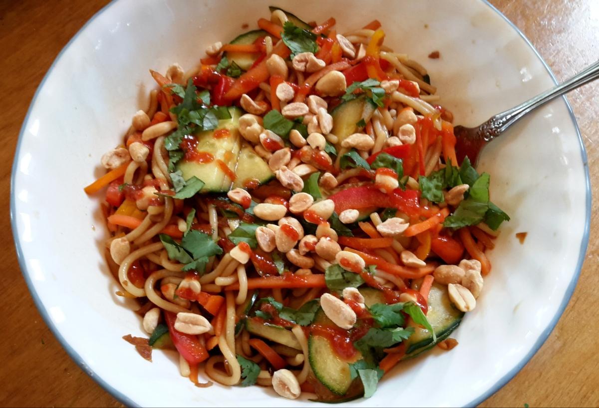 Peanut Thai Noodle Soup Bowl