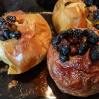 Baked Apples with Walnuts & Raisins