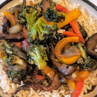 Portobello Mushroom and Broccoli Stir-Fry