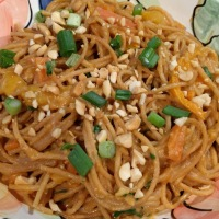 Thai Peanut Noodles (stove top and Instant Pot)