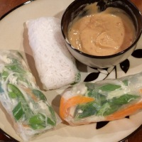 Spring Rolls with Sweet Peanut Dipping Sauce